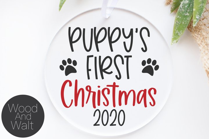 Puppys First Christmas 2020 SVG | Pets Cut File