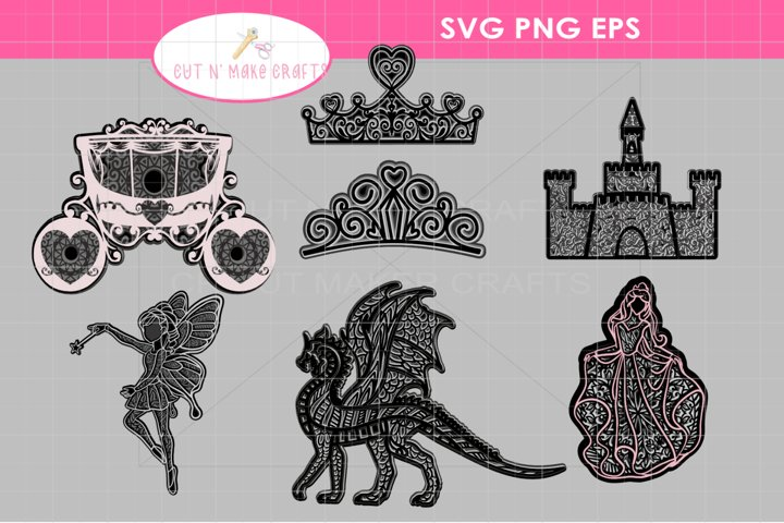 MULTILAYERED 3D FAIRYTALE Layered Mandala SVG Bundle