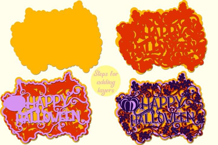 3D Halloween - 4 SVG cut files example 2