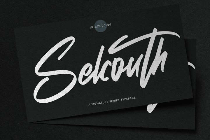 Selcouth - Signature Script Font