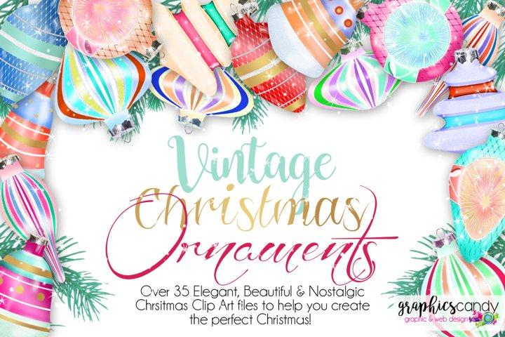 Vintage Christmas Ornament Clip Art