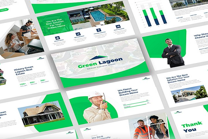 Green Lagoon - Real Estate Google Slide Template