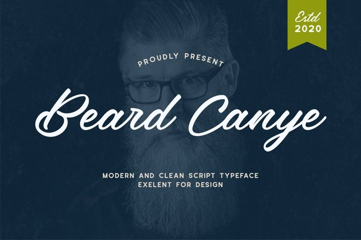 Beard canye - Modern And Clean Script Typeface