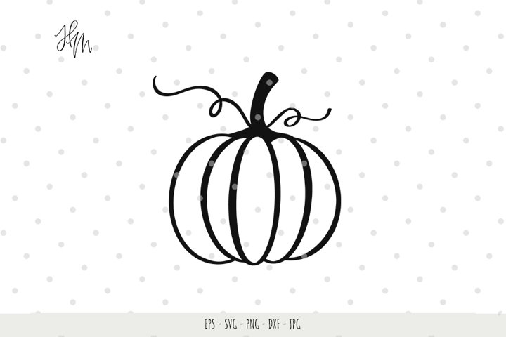 Pumpkin cut file SVG DXF EPS PNG JPG
