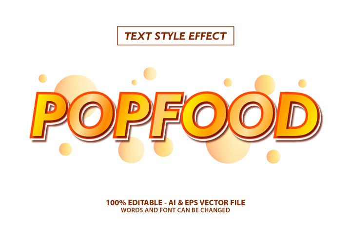 Pop Food Culinary Text Effect Editable