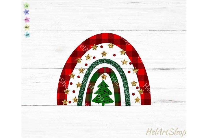 Christmas Rainbow png, Sublimation png, Christmas tree png