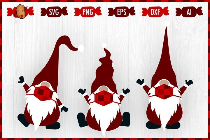 Christmas Quarantine Gnomes SVG - Gnomes In Mask SVG