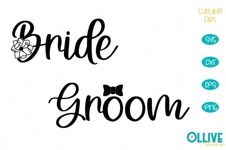 Wedding Bride & Groom SVG