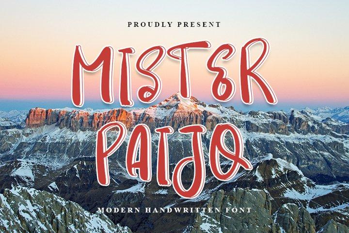 Mister Paijo - Modern Handwritten Font