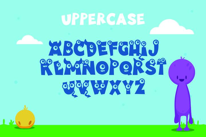 Little Munstar - A Monster Font example 1