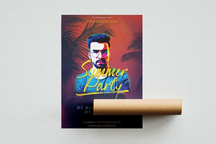 Summer Party PSD Flyer Template