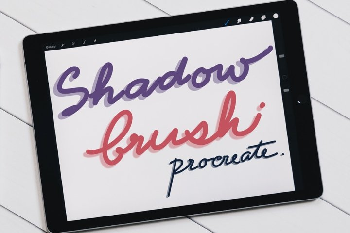 Line with Shadow Brushes for Procreate, Lettering brushes