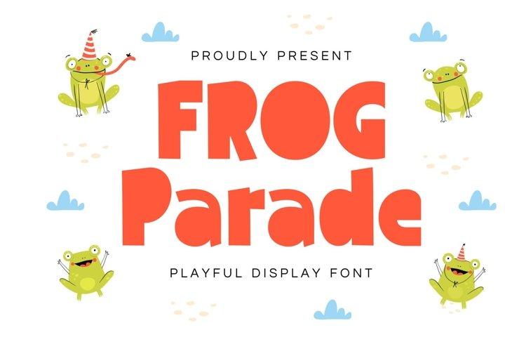 Frog Parade - Playful Display Font