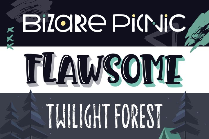 Summer Nights Font Trio