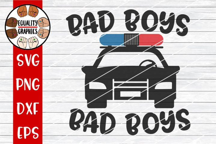 Bad Boys Police Car SVG | DXF | PNG