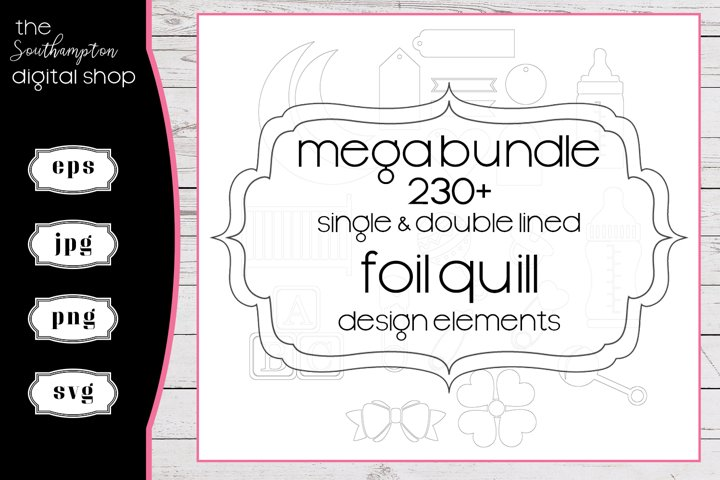 230 plus Mega Bundle Foil Quill Single & Double Line Designs
