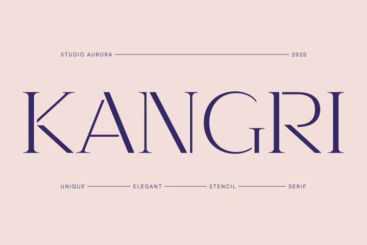 Kangri - Unique Elegant Stencil Serif