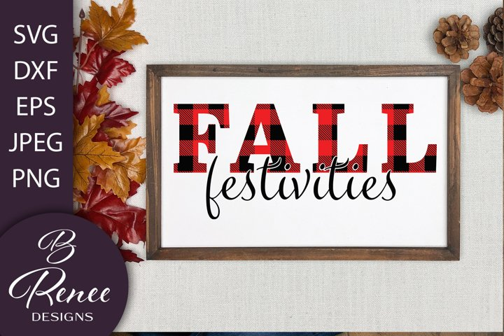 Fall Festivities Plaid SVG Design