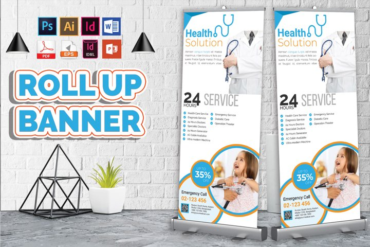 Doctor & Medical Roll Up Banner V-3