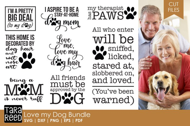 Love my Dog Bundle - Free Design of The Week