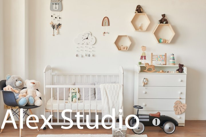 Loft style nursery. Kids room scandinavia