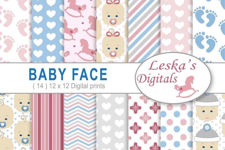 Babyface Baby Scrapbook Paper