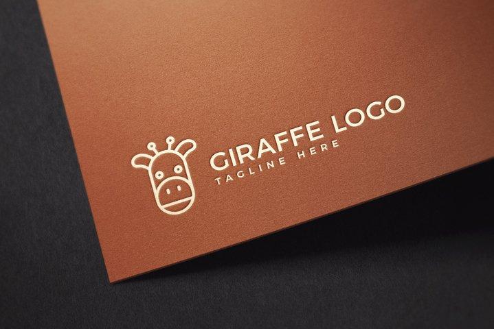 Cute Giraffe Animal Logo Template