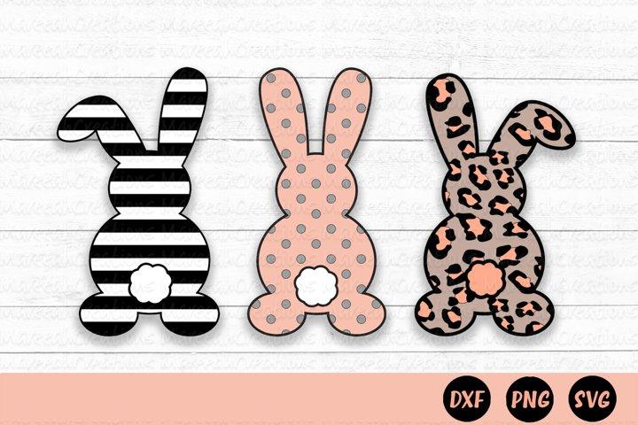 Easter Bunny Layered SVG   Cheetah Print Easter Bunny SVG