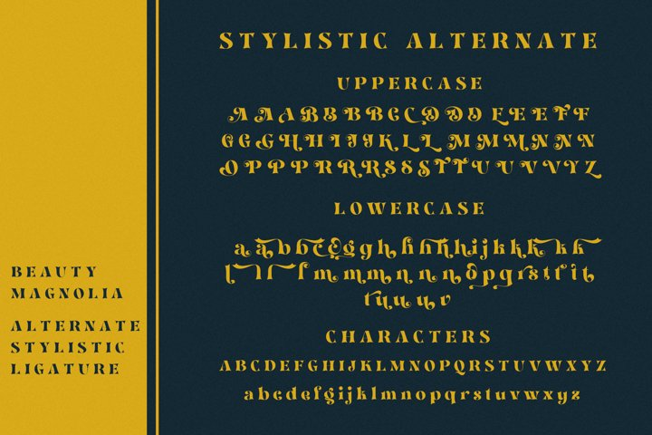 Beauty Magnolia - Display Font - Free Font Of The Week Design13
