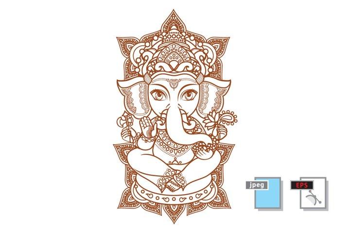 Hindu elephant God Lord Ganesh.