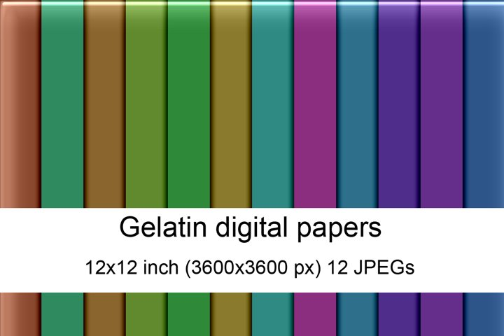 Gelatin digital papers