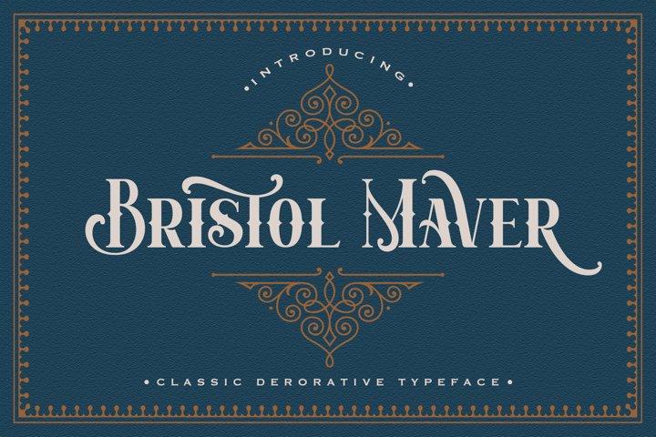 Bristol Maver - Decorative Font
