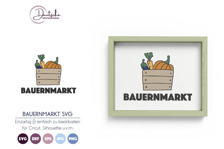 Bauernmarkt SVG | Gemüsekorb SVG