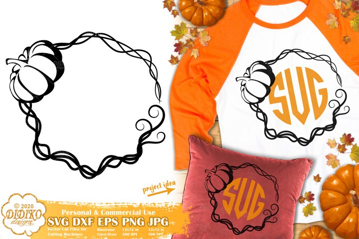 Pumpkin Monogram SVG | Thanksgiving SVG | Fall Monogram SVG
