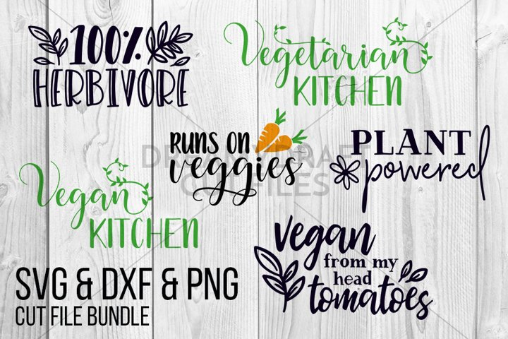Vegan SVG DXF PNG cut files