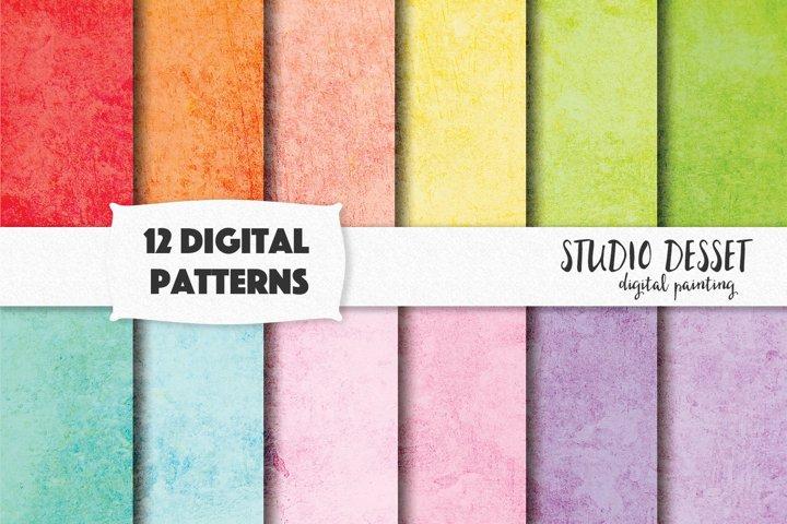 Grunge Textures, Rainbow Digital Papers