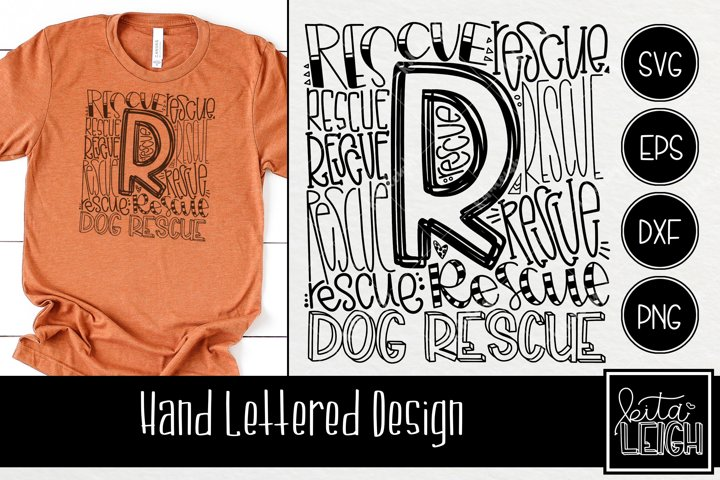Dog Rescue Typography SVG