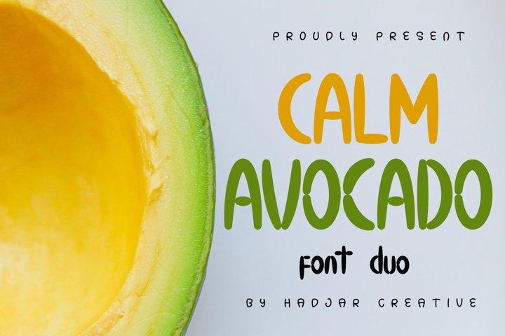 Calm Avocado - Font Duo
