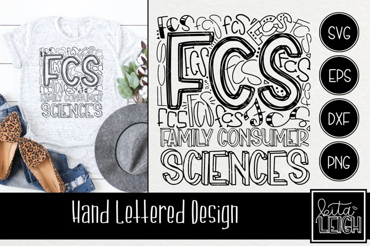 Family Consumer Sciences FCS Typography SVG