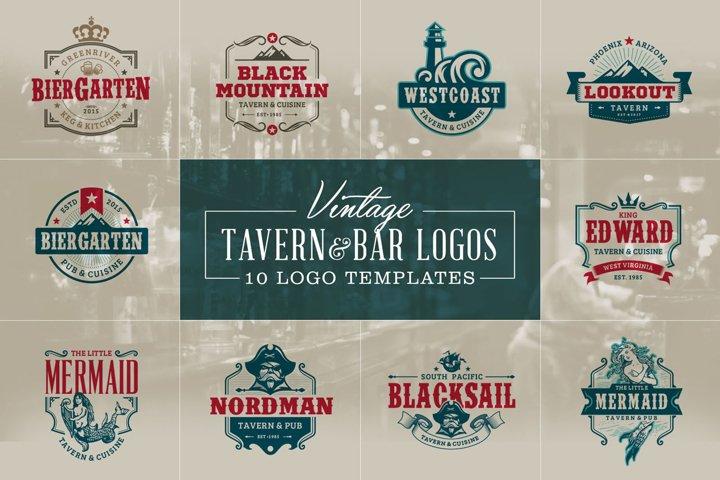 Vintage Tavern & Bar Logos