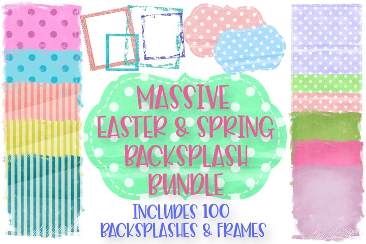 Easter and Spring Sublimation Background Bundle, Frames - Free Design of The Week