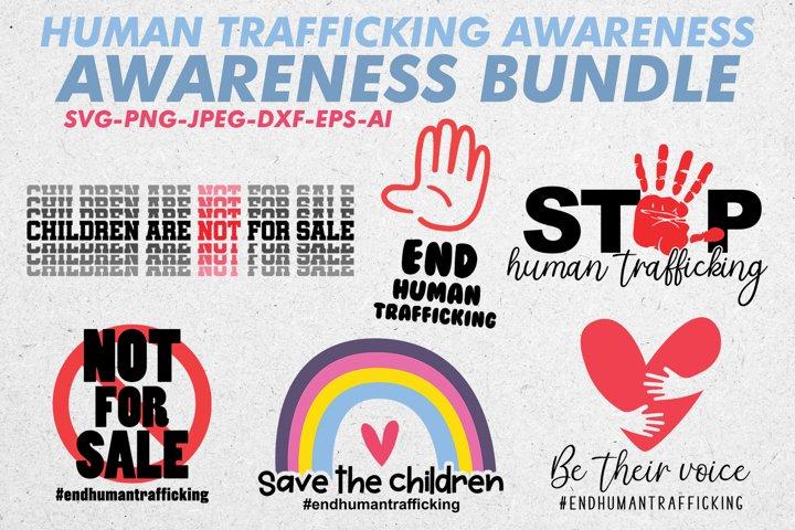 Human Trafficking Awareness SVG Bundle