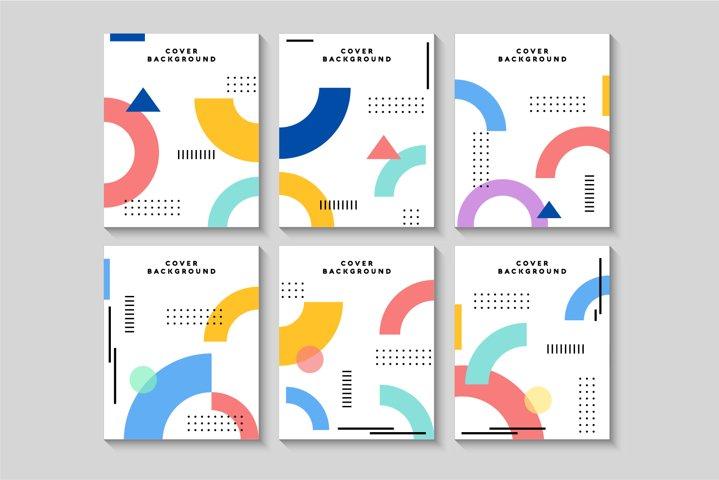 Memphis cover set design vector illustration