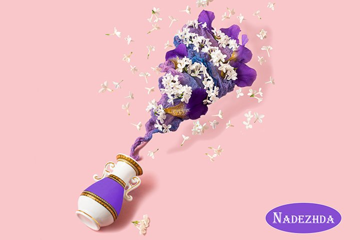 Flower vortex rises from vase