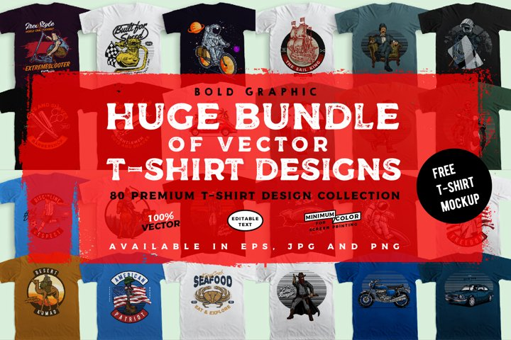 huge bundle of vector t-shirt designs!