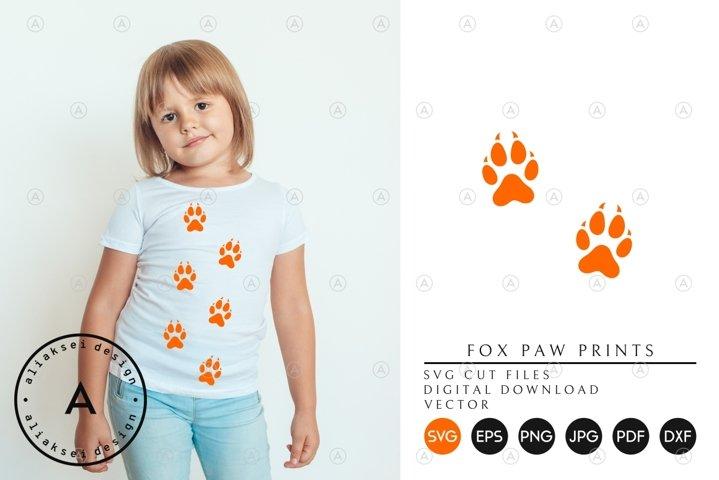Fox Paw Prints SVG