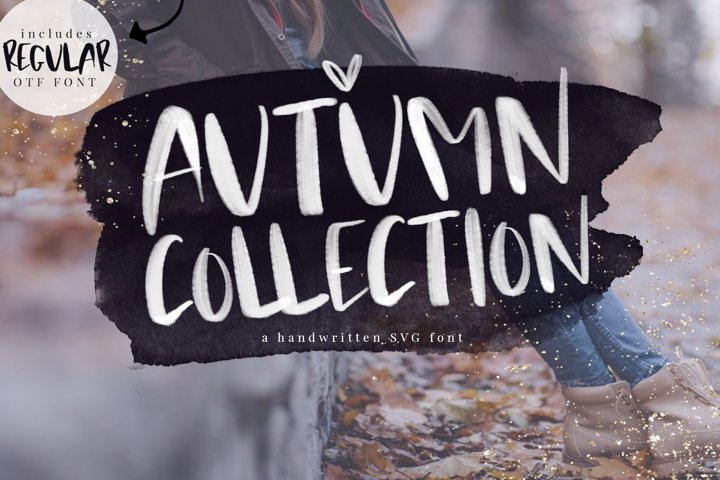 Autumn Collection OTF & SVG Font
