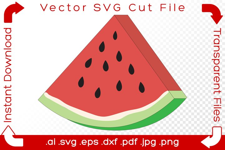Watermelon SVG - Pink Pastel Summer Food Cut File for Makers