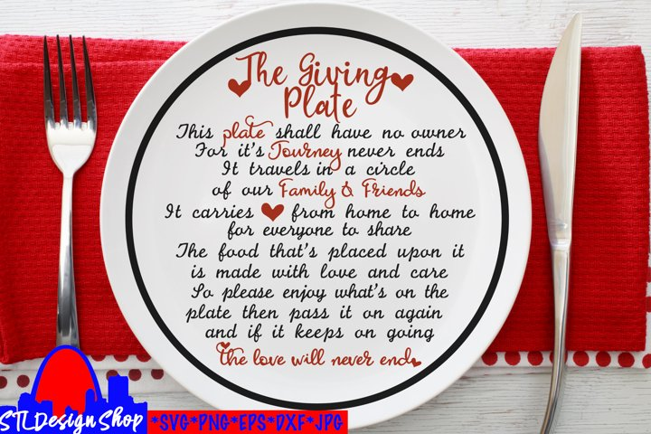 The Giving Plate SVG PNG Sublimation Holiday Housewarming
