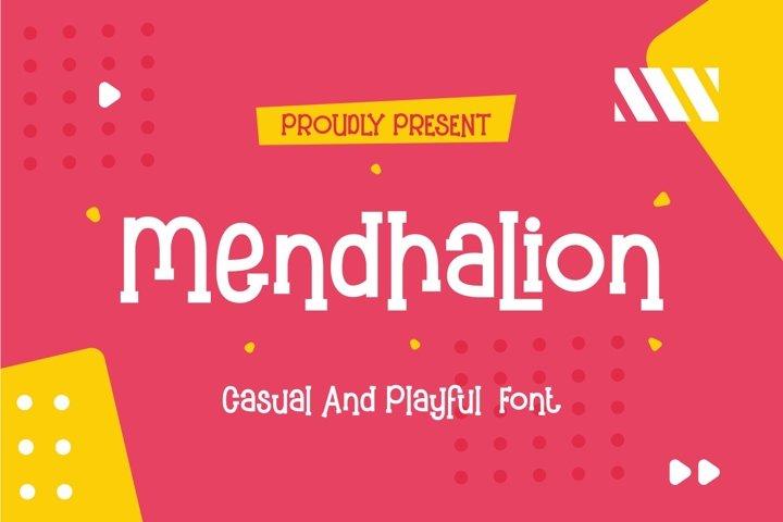 Mendhalion - Casual & Playful Font